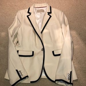 Banana Republic- cream - navy blue jacket